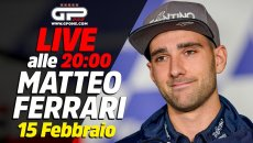 MotoE: LIVE - Matteo Ferrari alle 20:00 ospite della nostra diretta