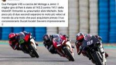 "MotoGP: Domenicali: ""Panigale V4S at 2.2 seconds from MotoGP: impressive!"""
