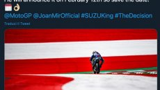 MotoGP: Will Joan Mir put the number 1 on his Suzuki? The answer on 12th February