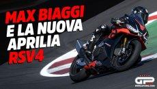 Moto - News: Max Biaggi e la nuova Aprilia RSV4: il Corsaro spreme la belva di Noale a Misano