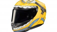 Moto - News: HJC RPHA 11 Otto Illumination Minions: il casco racing divertente