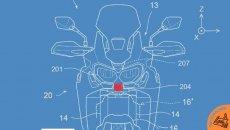 Moto - News: Honda Africa Twin, brevettati i sensori radar con coppia posteriore