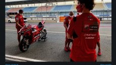 MotoGP: Bagnaia contemplates Ducati in Qatar: 'my first red taste'