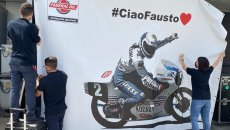 MotoGP: Tribute to Fausto Gresini in Qatar: his photo in the team box