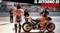 MotoGP: The return of Marc Marquez: the Spaniard pushes the Honda RCV213 to the limit