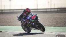 MotoGP: Yamaha svetta nel warm up a Losail: Quartararo 1° su Vinales, 7° Bastianini