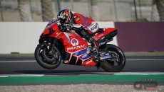 MotoGP: Ducati 'Frecciarossa' in Qatar: Zarco at 351.7 km/h on the straight