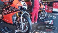 SBK: Misano: Ducati sfoggia nuovi cerchi anodizzati per il 2021