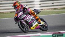 Moto3: Migno monopolizza il sabato di Portimão: Pole position davanti a Foggia