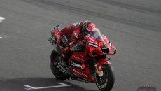 MotoGP: Bagnaia il migliore della FP2 a Portimao: Marquez 6°, Rossi in Q1