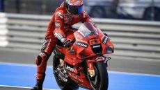 MotoGP: FP2: Bagnaia comanda a Jerez davanti a Quartararo. Sprofonda Rossi, 21°
