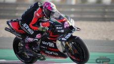 MotoGP: A.Espargarò regala la FP1 all'Aprilia: Morbidelli manda due motori in fumo
