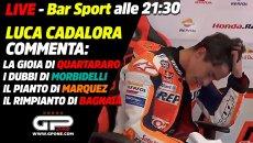 MotoGP: LIVE Bar Sport alle 21:30 con Cadalora: il pianto liberatorio di Marquez