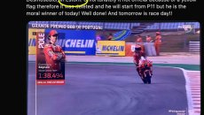 MotoGP: Domenicali tweets about the pole snatched from Bagnaia, but wrong circuit!