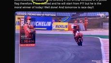 MotoGP: Domenicali twitta sulla pole scippata a Bagnaia, ma sbaglia circuito!