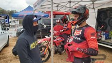 News: Andrea Dovizioso prepares for Aprilia test with a motocross bike at Maggiora