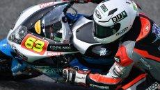 SBK: CIV: Stirpe vince in SS600, duello incandescente in casa VR46 in Moto3