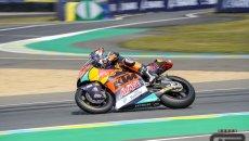 Moto2: FP3 Le Mans: Fernandez è il migliore ma Tony Arbolino chiude 4°