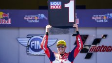 """Moto2: Di Giannantonio: """"Dedico la vittoria a Fausto, si sarebbe divertito"""""""