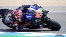 MotoGP: Quartararo domina le qualifiche di Jerez davanti a Morbidelli. Miller 3°