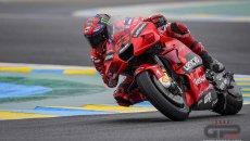 """MotoGP: Bagnaia: """"Il flag-to-flag mi ha salvato, la prima moto aveva un problema"""""""