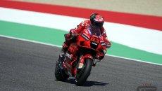 MotoGP: Bagnaia da record al Mugello in FP3: 1° con la Ducati, Marquez in Q1, Rossi 18°