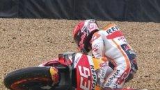 """MotoGP: Marquez: """"Sono arrabbiato, sono caduto per mancanza di concentrazione"""""""