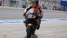 MotoGP: Test Jerez: Marc Marquez prova la carena Honda... in stile Yamaha