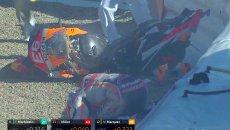 MotoGP: Marc Marquez paura nelle FP3, cade e distrugge la propria Honda!