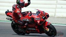 """MotoGP: Bagnaia: """"Oggi non mi sono piaciuto, mi sono innervosito per il vento"""""""
