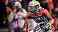 """MotoGP: Espargarò: """"Sono deluso, mi sarebbe piaciuto avere 4 RS-GP in pista"""""""