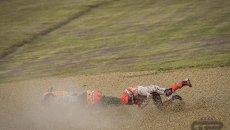 MotoGP: VIDEO - Marquez's crash in Q1 condemns him to start 20th at Assen