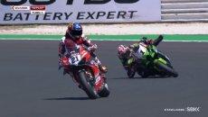 SBK: Misano: Rea evita la caduta con un salvataggio alla Marquez!