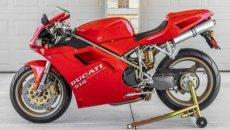 Moto - News: Una Ducati 916 con meno di 5.000 km va all'asta - VIDEO