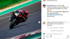 MotoGP: Pecco Bagnaia in Misano, with the Ducati Panigale V4S is almost MotoGP