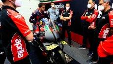 "MotoGP: Albesiano: ""Dovizioso is helping us a lot to make Aprilia grow"""