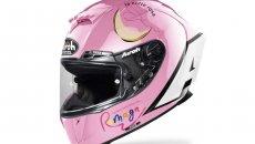 MotoGP: Maria Herrera ed Airoh all'ELF CIV con un casco rosa a sostegno della ricerca