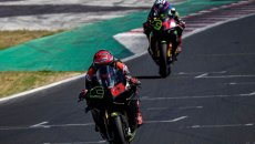 """MotoGP: Bagnaia and his """"brothers"""": the VR46 riders (with Rossi) in Misano"""