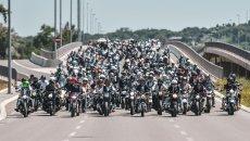Moto - News: Germania: 15.000 moto sotto casa di un bambino per battere il cancro