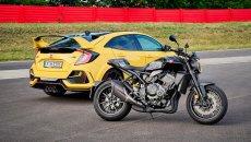 Moto - News: Ad Imola le Honda CB1000R Black Edition e la Civic Type R L.E.