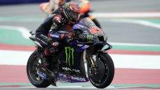 """MotoGP: Quartararo: """"Guidare con la Yamaha sul bagnato è un incubo"""""""