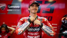 """MotoGP: Bagnaia: """"Grazie a Dovizioso per questa Ducati, ora tocca a noi"""""""