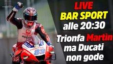 MotoGP: LIVE Bar Sport alle 20:30 - Trionfa Martìn, ma la Ducati non gode