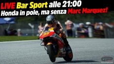 MotoGP: LIVE Bar Sport alle 21:00 - Honda in pole, ma senza Marc Marquez!