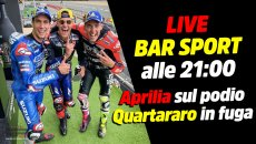 MotoGP: LIVE Bar Sport alle 21:00 - Aprilia sul podio, Quartararo in fuga