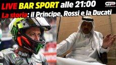 MotoGP: LIVE Bar Sport alle 21:00 - La storia: il Principe, Rossi e la Ducati