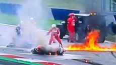 MotoGP: VIDEO Images of Pedrosa's KTM and Aprilia on fire at Red Bull Ring