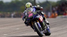 SBK: BSB Thruxton: hat-trick for O'Halloran who pulls away in the points, Kent (Suzuki) on the podium