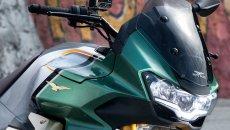 Moto - News: Moto Guzzi V100 Mandello: ecco come funziona l'aerodinamica attiva