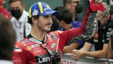 "MotoGP: Bagnaia: ""Impossibile sostituire Valentino, vorrei avere i suoi tifosi"""